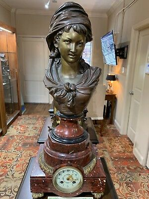 Antique-French Neo-Classical Bust Mantle Clock-Circa 1904