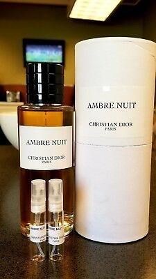Ambre Nuit by Christian Dior Prive Collection Samples 10ml