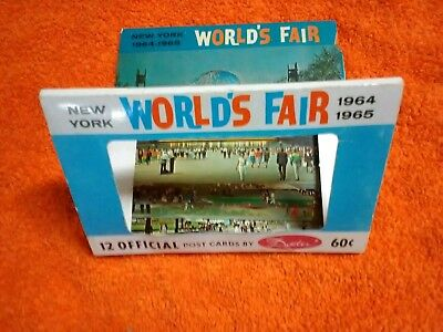 New York*world's Fair*1964-1965*post Cards*offical 12 Post Cards*by Dexter*