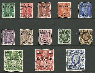 Tripolitania Sgt14-26 The 1950 Gvi Set Of 13 Very Fine Used Cat £170