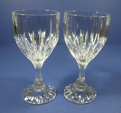 Mikasa Crystal Park Lane Set (s) of 2 Wine Glasses 6 3/8""