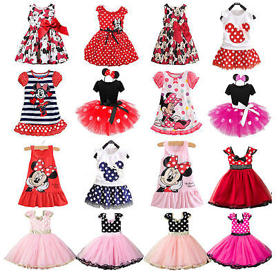 Minnie Mouse Kids Girls Birthday Party Costume Ballet Tutu Dress Outfit Clothes
