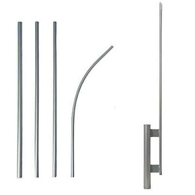 Yaetek Swooper Flutter Flag Hardware-ONE 4 Piece Pole Kit with Ground Spike