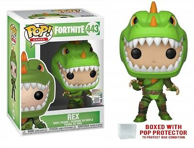 Funko Pop! Games Fortnite - REX #443 Vinyl Figure with protector Case