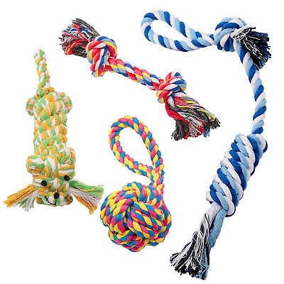 Pecute Dog Chew Toys Teething toy Dog Rope Toys Puppy Cotton Durable for Small -