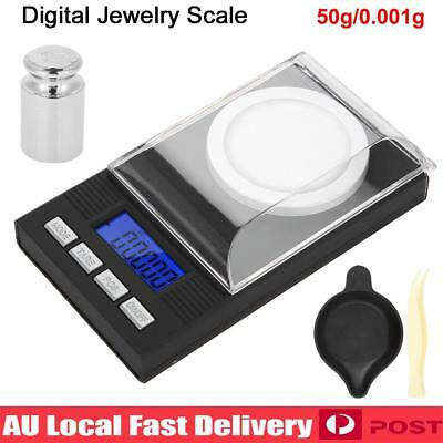 LED Digital Milligram 50g /0.001g High Precision Mini Electronic Jewelry Scale