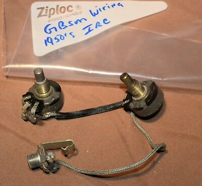 VINTAGE GIBSON WIRING Harness Irc Pots 500K 1952 Fr Es-175 Les Paul on