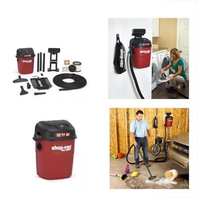WALL MOUNT WET / DRY Shop Vac 18' FOOT HOSE Vacuum Cleaner Car Upholstery Garage
