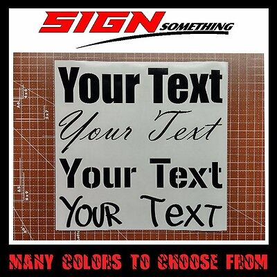 Your Text Decal / Sticker custom customizable