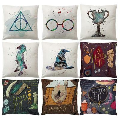 17inch Harry Potter Polyester Cushion Cover Sofa Throw Pillow Case Home Decor