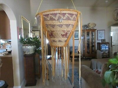 "Apache Burden Gathering Basket Circa 1960's Estate Item Lg 16"" Hi X 20 1/2"" Top"