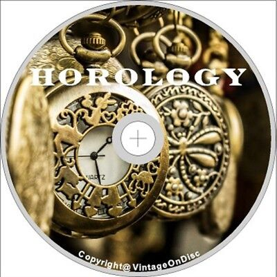 Horology 255 Books on Dvd Rom Antique Clock Watch Repair Pocketwatch