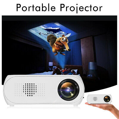 7000 Lumens LED HD 1080p Mini Projector Multi-media Home Cinema Theater HDMI