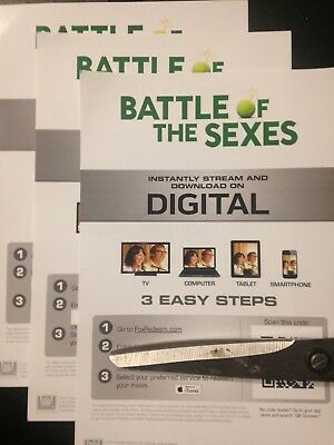 Battle Of The Sexes (Digital Code Only) Canada redemption only!