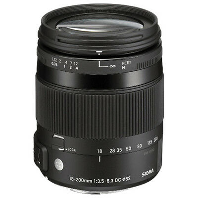 """Sigma AF 18-200mm f/3.5-6.3 DC Macro OS HSM """"Contem"""" for Canon New Brand"""