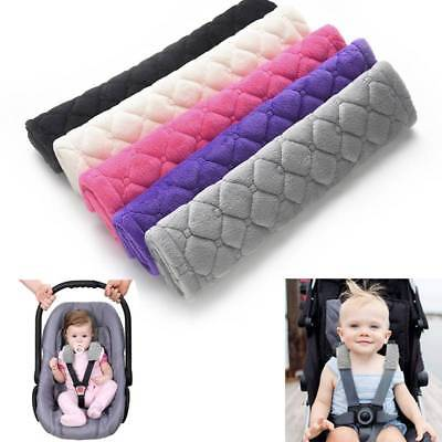 2pc Car Seat Strap Cover Soft Seat Stroller Belt Cushion Baby Shoulder Protector