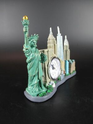 York Skyline Model with Clock Freedom Tower Statue of Liberty, Empire, Chrysler