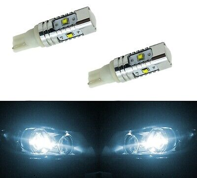 LED Light 40W 194 White 6000K Two Bulbs Dome Map Park License Side Marker