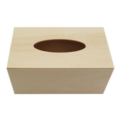 Unfinished Wood Tissue Box Holder Paper Organizer Cover DIY Craft Home Decor