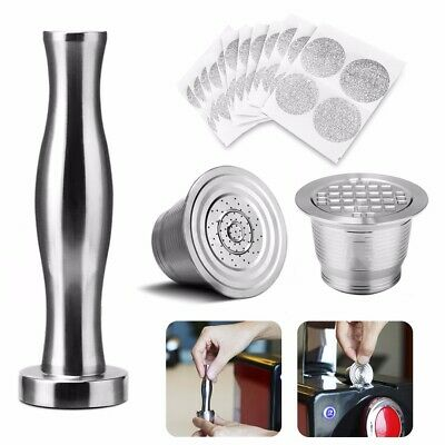 i Cafilas Stainless Steel Refillable Reusable Coffee Capsule Pod Hammer Powder