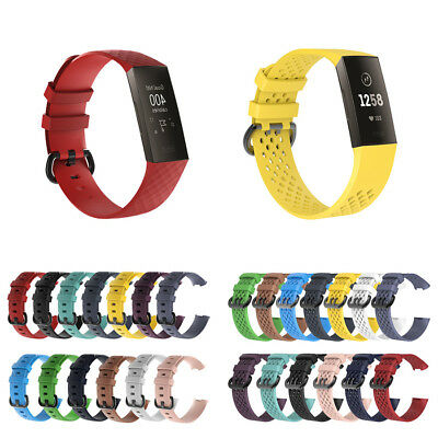1* Replacement Strap Band With Classic Buckle for Fitbit Charge 3 Watch AU