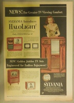 """Sylvania TV Ad: Sylvania Introduces """"Halolight"""" Best Television from 1951"""