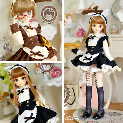 【Tii】Lolita Alice cat maid Doll Clothes dress outfit 6 sets 1/4 BJD MDD MSD RL