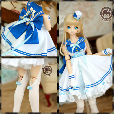 【Tii】Lolita navy Doll Clothes dress outfit 1/3 BJD DD SD10 1/4 MDD MSD minifee