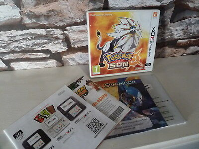 NINTENDO 3DS POKEMON SUN ***CASE and MANUAL ONLY**** NO GAME******************