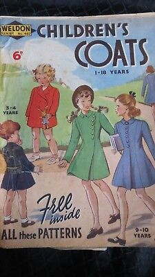 Weldon Series No 467 Childrens Coats 1939 25th February Fashion Magazine