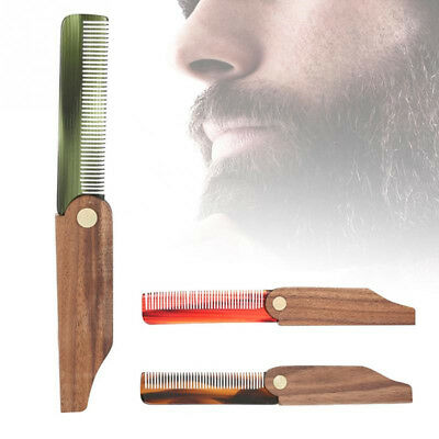 Portable Folding Beard and Moustache Comb Anti Static Pocket With Handle 8C