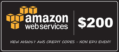 AWS Amazon $200 Redemption code Web Services Credit Credit