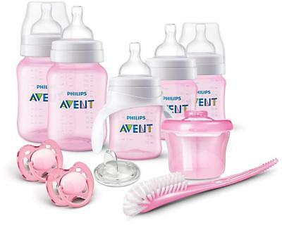 Baby Feeding Philips AVENT Anti-Colic Bottle Newborn Starter Set Pink Quick Easy