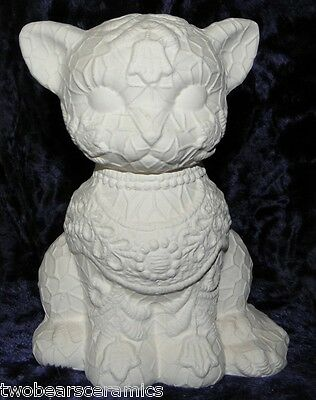 Ceramic Ready to Paint Lace Cat