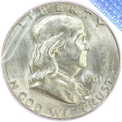 1961 Franklin Half Dollar BU Mint Cello 90% Silver US Coin