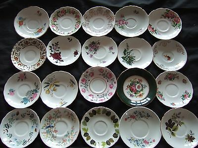 Job lot of 10 Vintage Mismatched China Saucers
