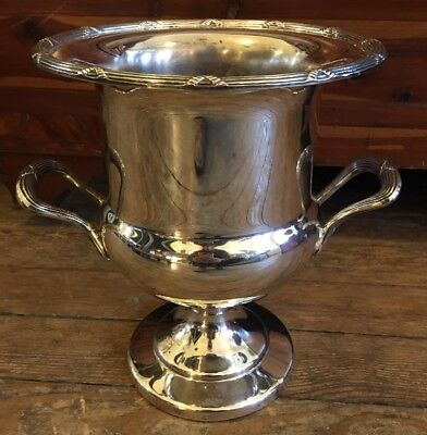 ANTIQUE Vintage TOWLE TWO HANDLED Silver plate CHAMPAGNE WINE URN ICE BUCKET