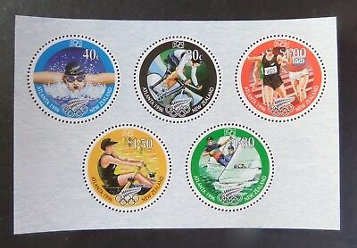 New Zealand 1996 Cent Olympic Games cycling MS MS2013 MNH UM unmounted mint