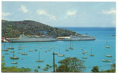 St. Thomas Virgin Islands Yacht Haven Marina  Postcard