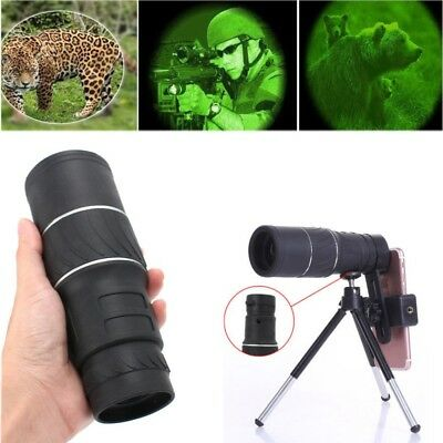 NEW Day&Night Vision 40X60 HD Optical Monocular Hunting Camping Hiking Telescope