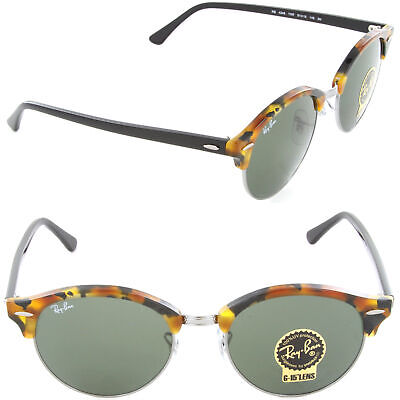 41052eeaa6a NEW Ray-Ban RB 4246 1157 51mm Sunglasses Spotted Black Havana Green Lens