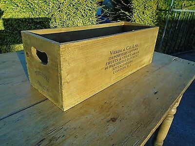 Retro Vintage Style Wooden Spitafields Vegetable Crate Tomato Box Fruit Storage