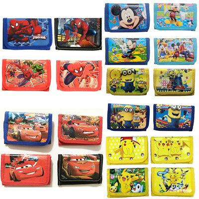 Mcqueen Cars Spiderman Pokemon Children Boys Wallet Kids Cartoon Coin Purse