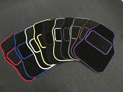 4 Piece Front And Rear Car Floor Mat Set - Various Colours Rubber Backed Carpet