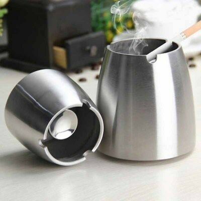 Classic Stainless Steel Ashtray Bar Smoking Party Gifts Ash Holder Cigarette Car