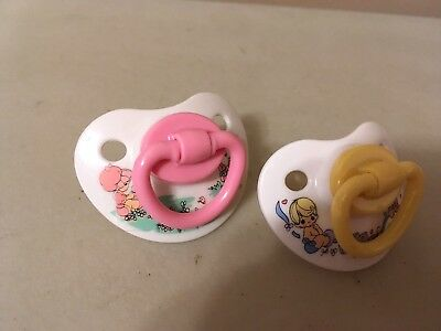 Vintage Baby Pacifiers Precious Moments Pink Yellow Green Reborn Dolls HTF