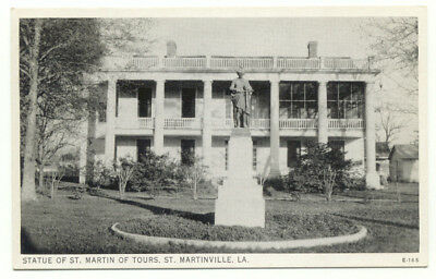 St. Martinville LA Statue Of St. Martin of Tours Postcard - Louisiana