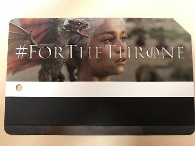 Game Of Thrones MTA Metro Card MetroCard NYC Limited Edition Daenerys Targaryen