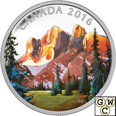 """2016 """"The Rockies-Canadian Landscapes"""" Prf $20 Fine Silver 1oz. Coin(17422)OOAK"""