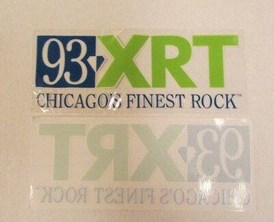 New 93 Xrt Chicago's Finest Rock Radio Station Static Window Cling Wxrt